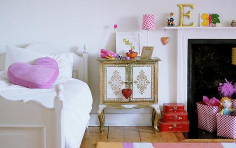 Contemporary Bedrooms For Little Girls with-fireplace-and-simple-white-bed photos 7