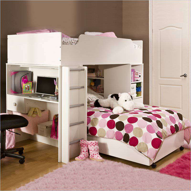Cool loft beds for girls images 5 for Girls bedroom decorating ideas with bunk beds