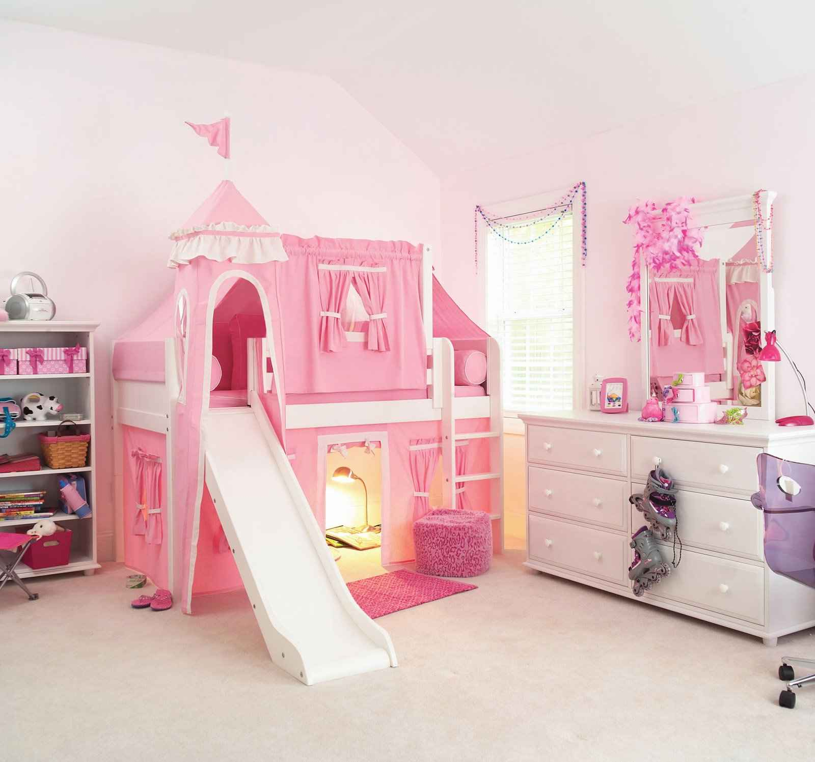 Ideal design concepts for loft beds for girls small room for Cool beds for small bedrooms
