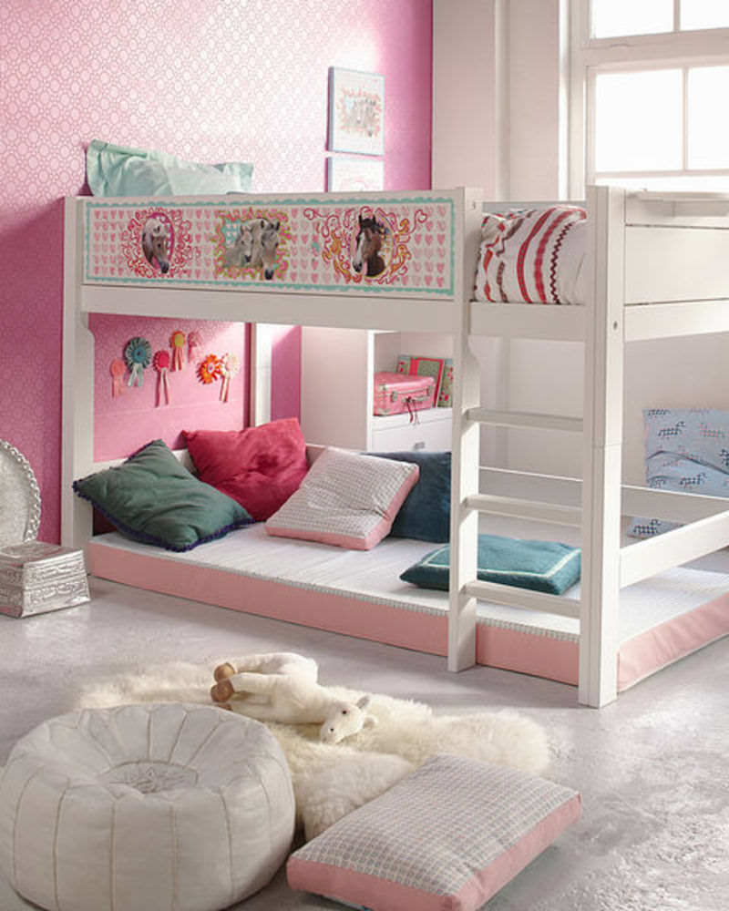 Ideal design concepts for loft beds for girls small room Bunk room designs