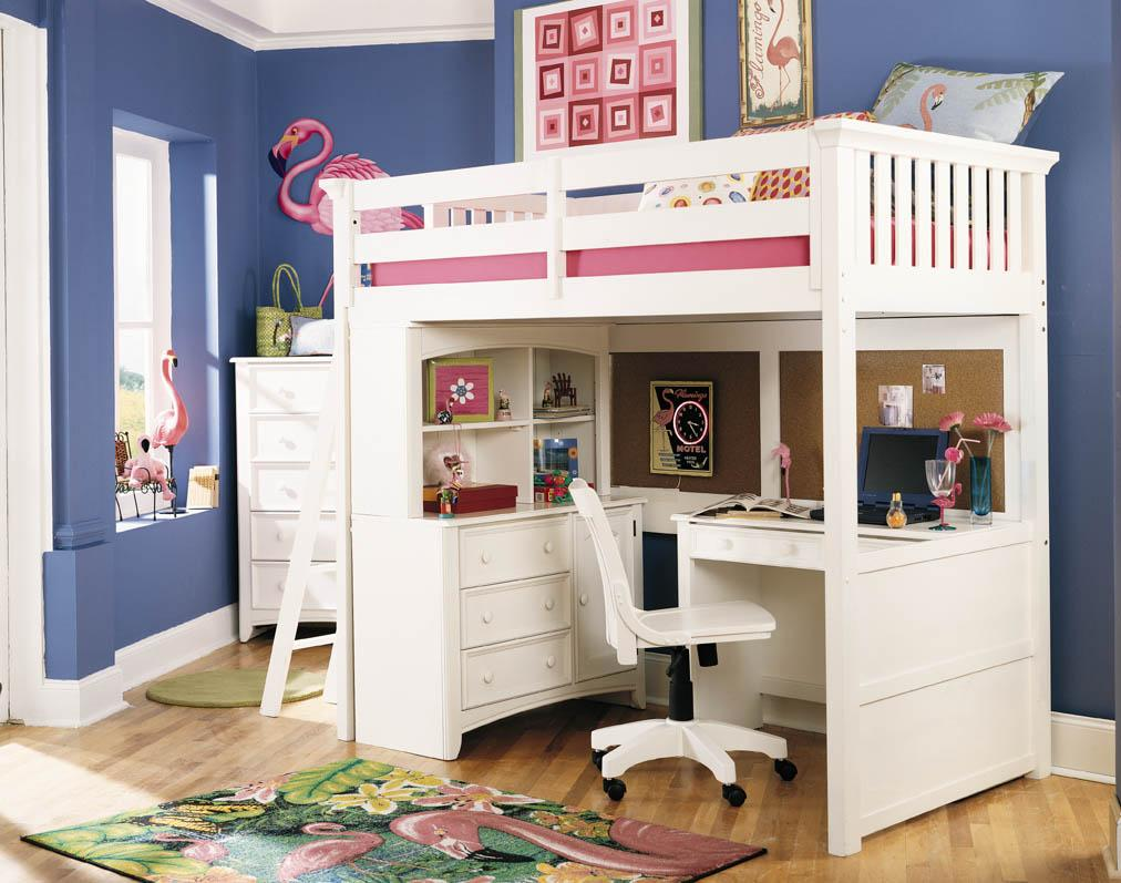Ideal design concepts for loft beds for girls cool loft for Beautiful beds for girls