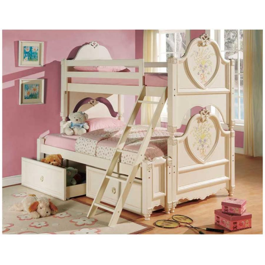 Cool Loft Beds for Girls picture 3 twin_bunk_bed_dollhouse