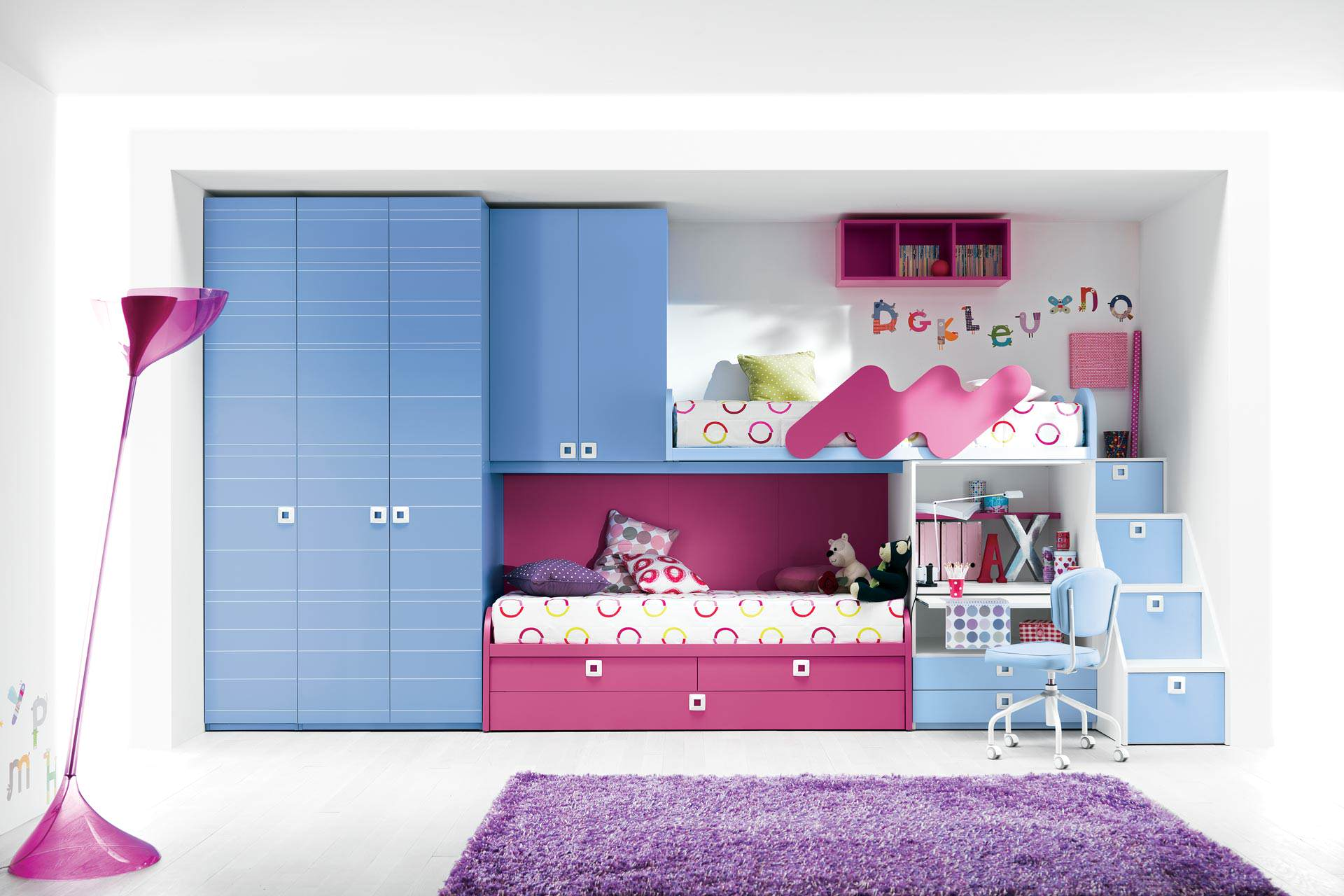 Cool loft beds for girls picture 4 girl bunk bed - Awesome beds for teenagers ...