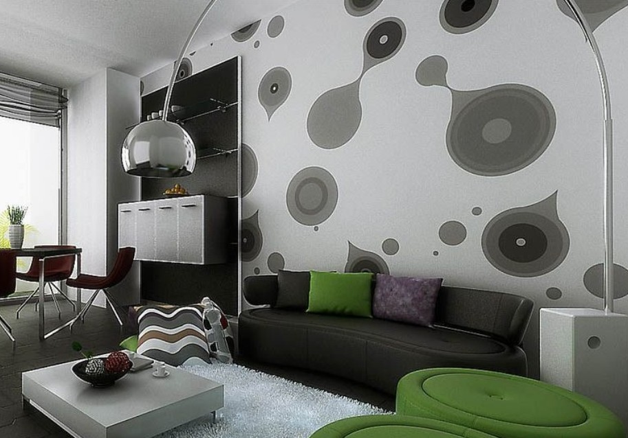 Creative wall decoration for small living room image6