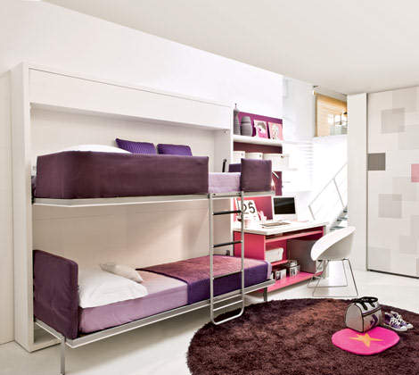 Cute Loft Beds for Girls pictures 15 Cute-Minimalist-Bunk-Bed-Design