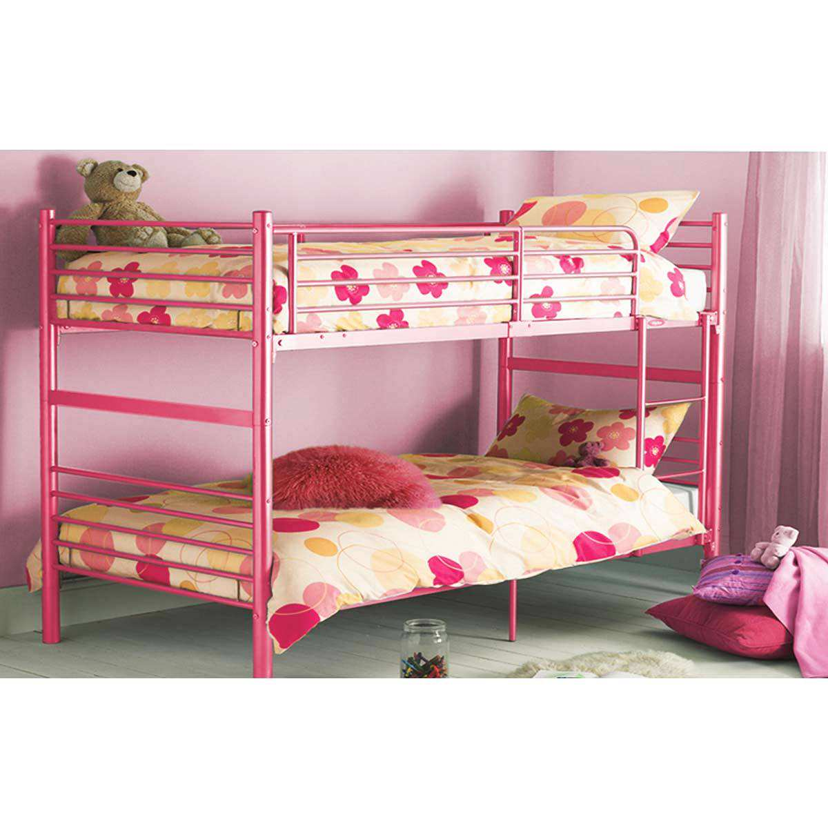 Cute Loft Beds for Girls pictures 16 Cute-Pink-Athena-Girls-Bunk-Bed-Ideas-for-Girls-Bedroom-Decoration-Design