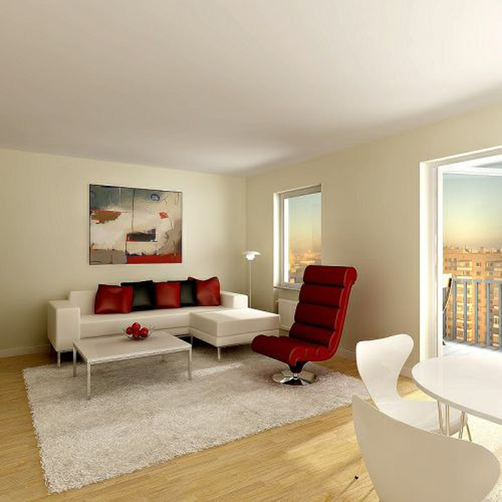Futuristic Small Studio Apartment Living Room Images 5