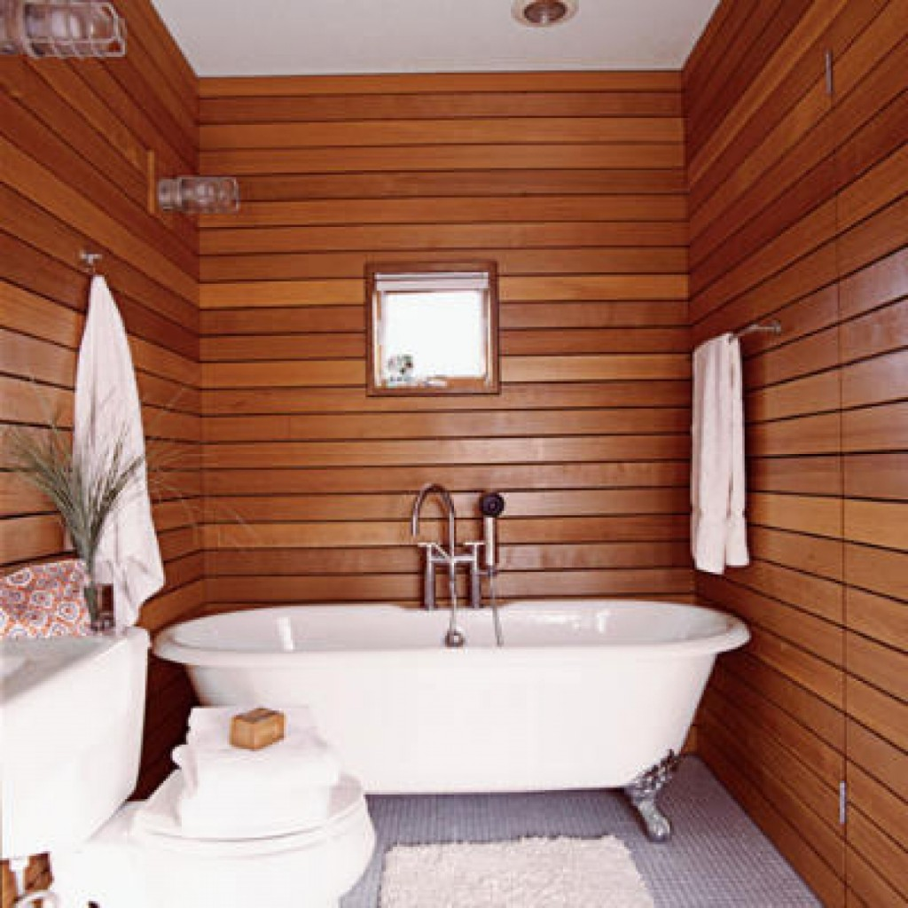 Simple Small Bathroom Design home tropical wooden wall decor for simple bathtub