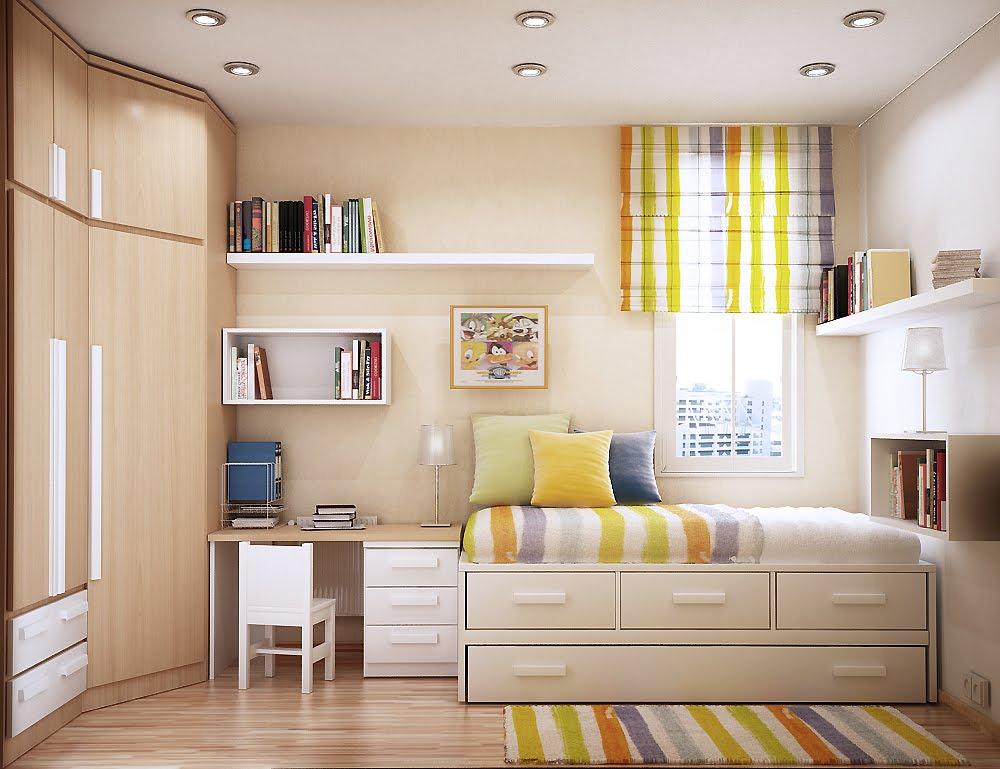 Space-Saving Ideas For Small Bedrooms teen bedroom idea design modern bright and cheerful