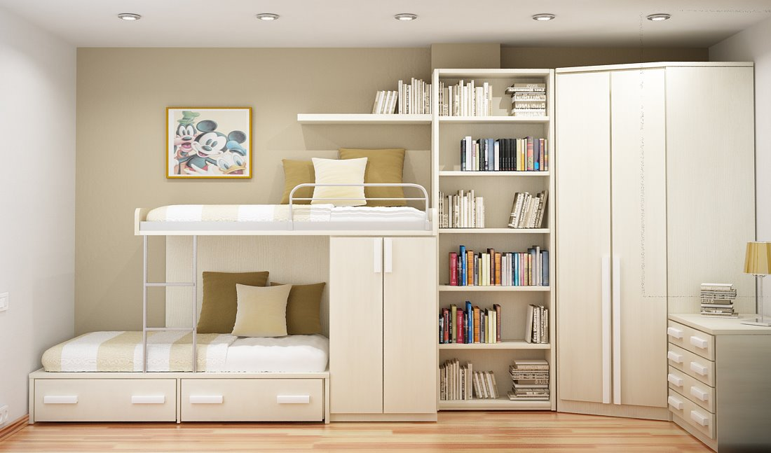Space-Saving Ideas Small Bedrooms smart ideas for two