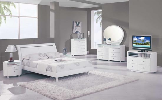 White Bedroom Furniture Ideas For A Modern Bedroom picture 1