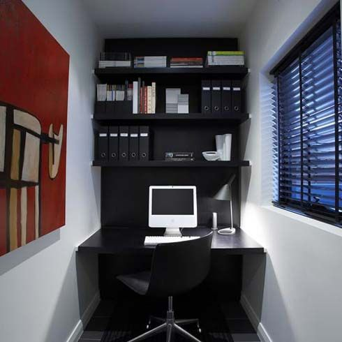 Interior design for small spaces office photos for Office room interior design photos