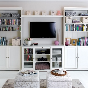 storage ideas for small spaces in the living room around tv