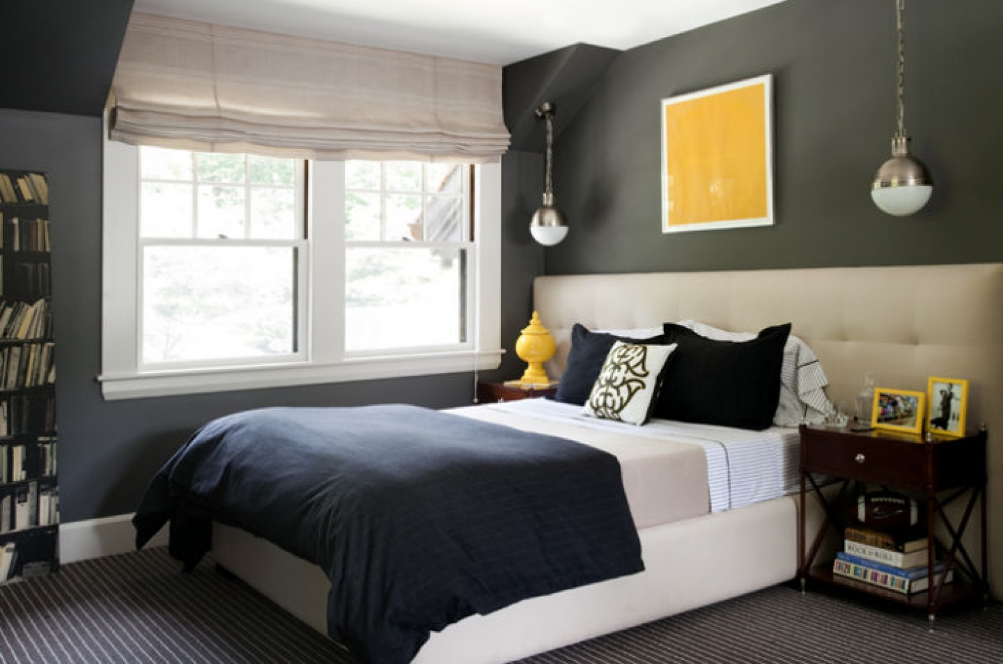 chic gray blue bedroom design photos 4 with charcoal gray walls