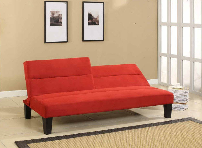 Creating Space Within A Small Room Along With Futon Sofa