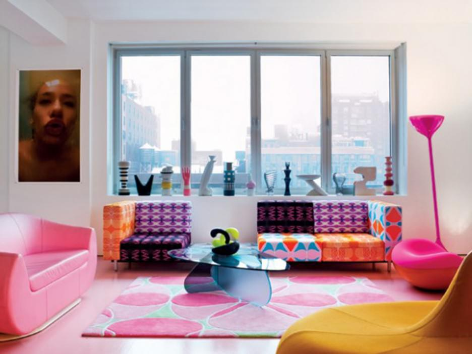 Beautiful Studio Apartment with Colorful Design for Living Room  Decorating Ideas image 6