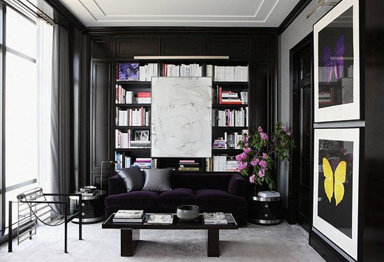 Furnishing A Dark Living Room with Black Paint Art Design Style image 7