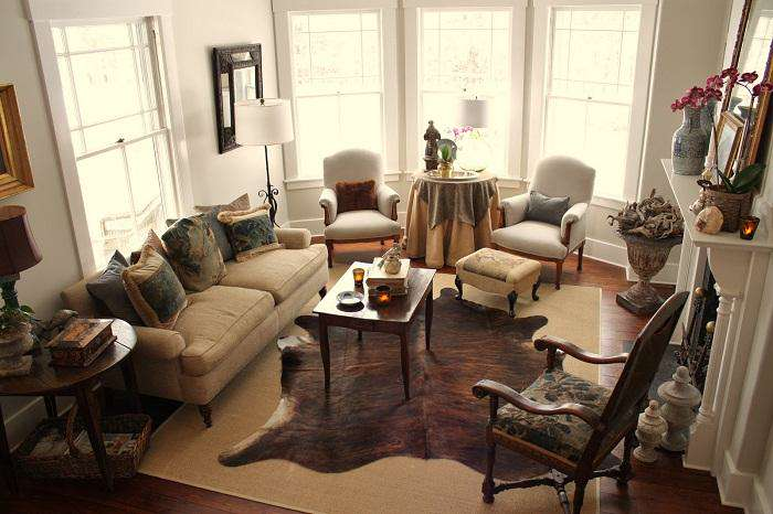 Ideas for Small Spaces Retro Living Room Decorating img 011
