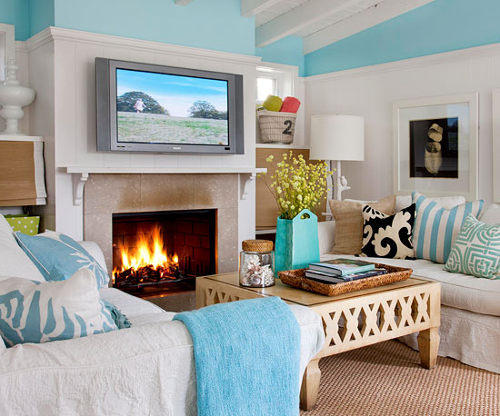 Living Room Entertainment Ideas beach decor pictures 2