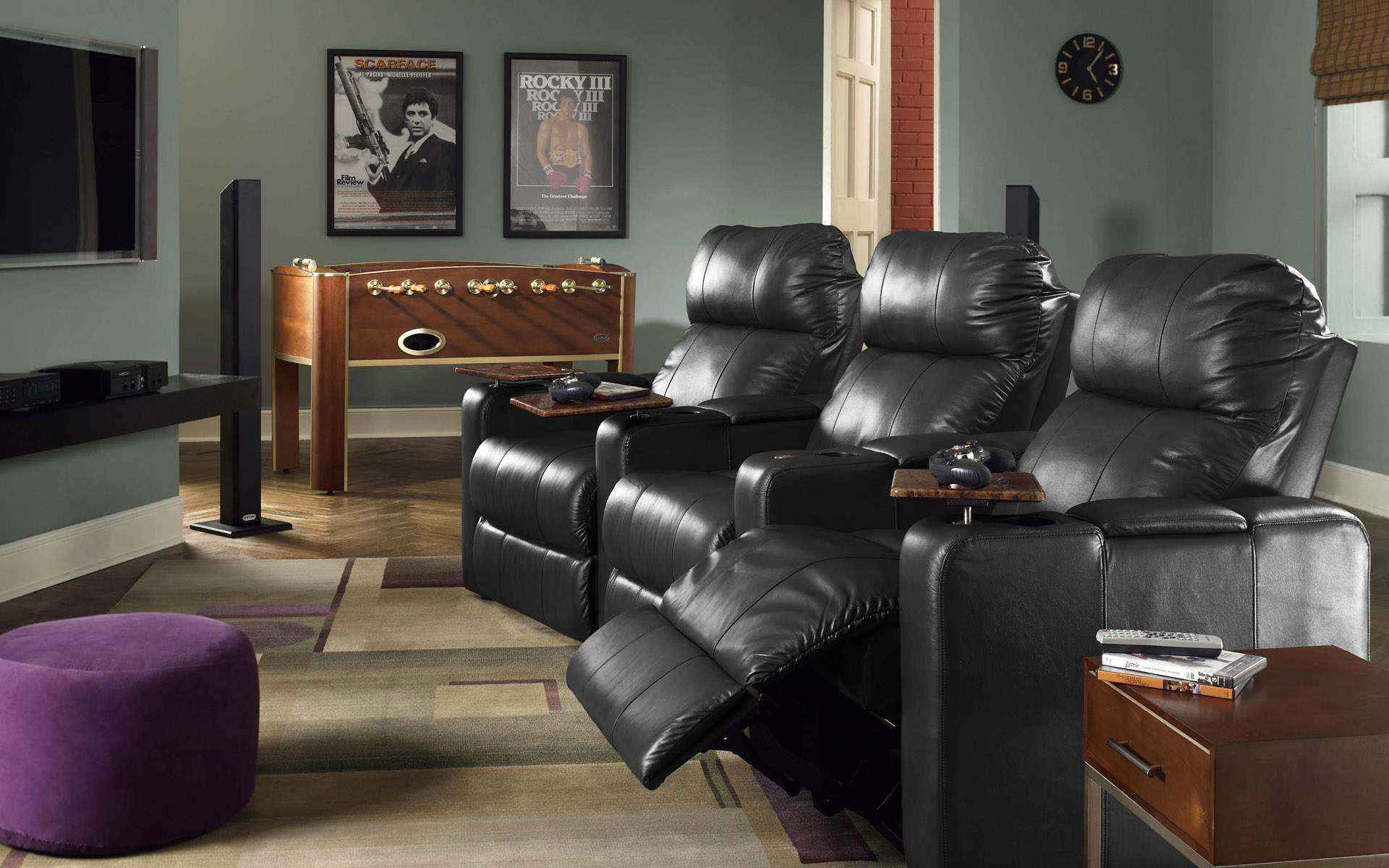Luxury Black Leather Sofa for Small Living Room photos 14