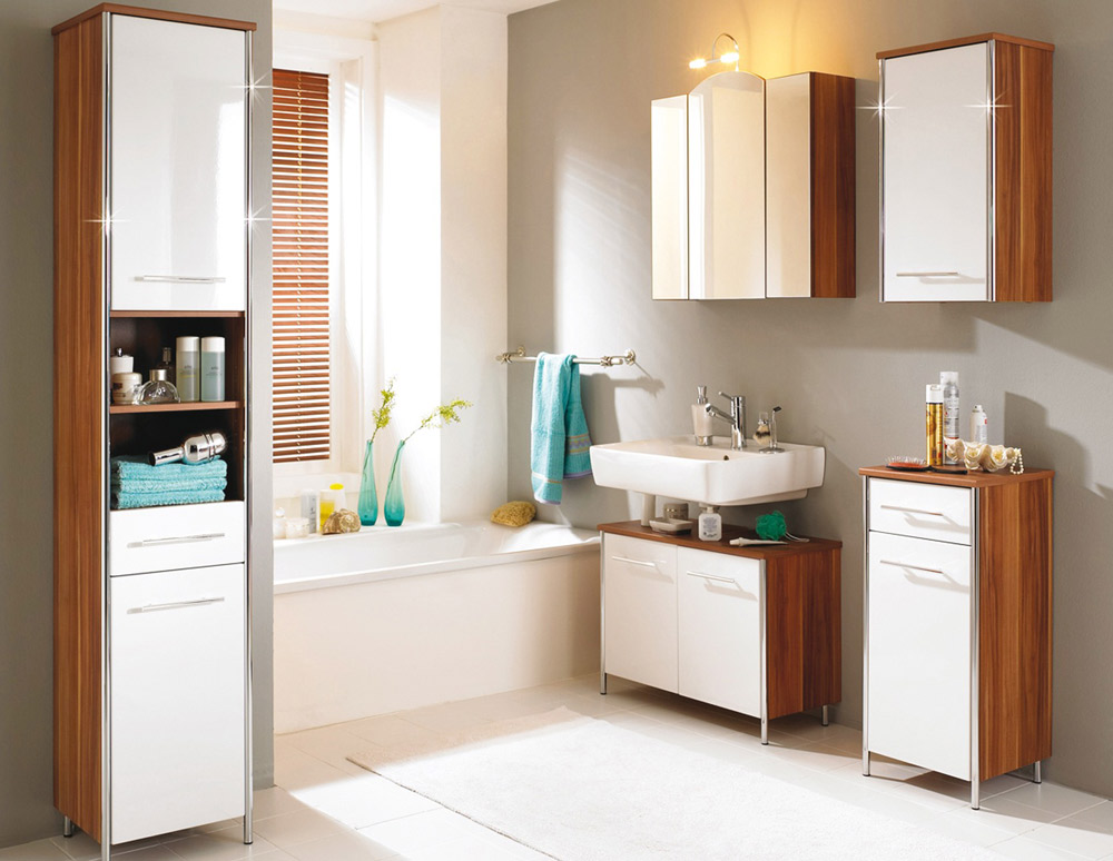 Trendy and compact bathroom furniture for modern homes for Trendy small bathroom designs