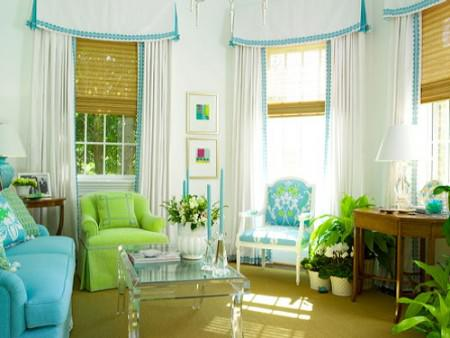 green and blue for paint your living room ideas pict 10