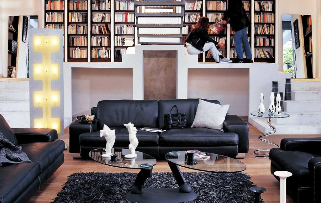 modern black leather couch living room design styles sofas photos 16