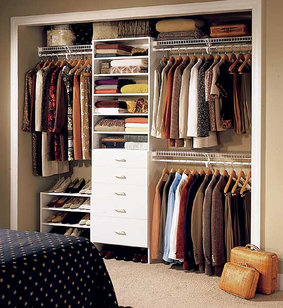 Small home organization needs efficient closet space Small home organization
