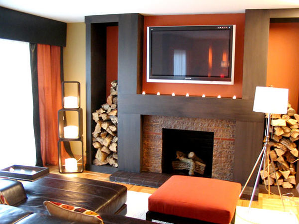 Small Living Room Fireplace Tv Pictures 19