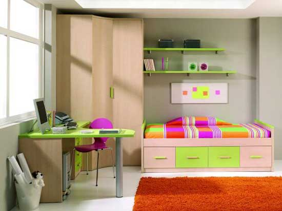 Teen girls bedroom design for small bedrooms small room for Cute bedroom designs for small rooms