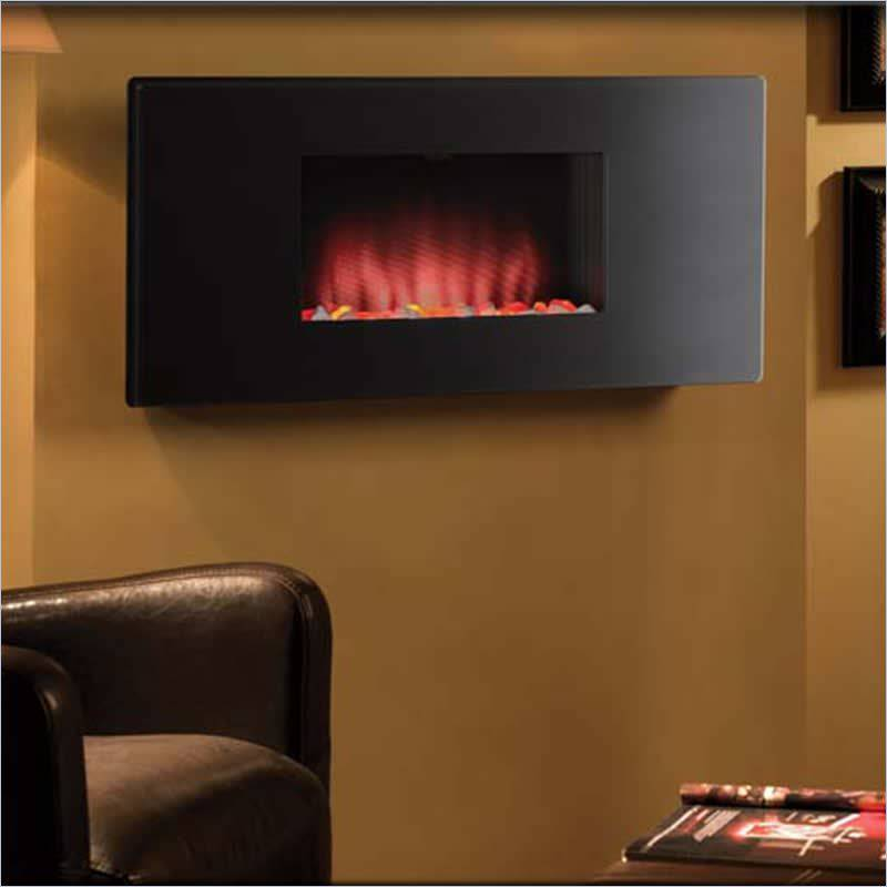 Electric fireplace small room 002 small room decorating for Small den with fireplace
