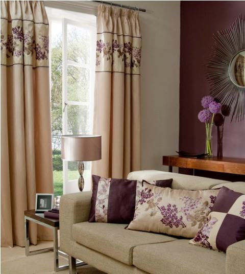 Curtain design for small living room picture 03