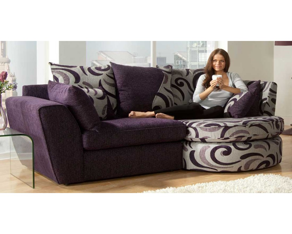 Optimize Small Room With Fabric Corner Sofas Fabric