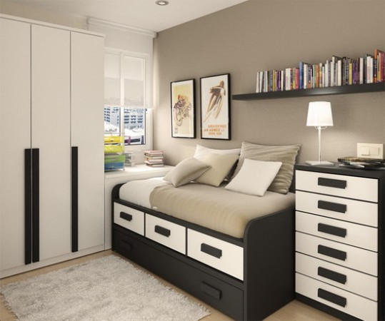 Picture of Contemporary Small Bedroom Paint Colors Design 01