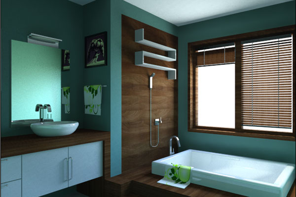 Small bathroom paint colors ideas small room decorating - Bathroom color schemes brown and teal ...