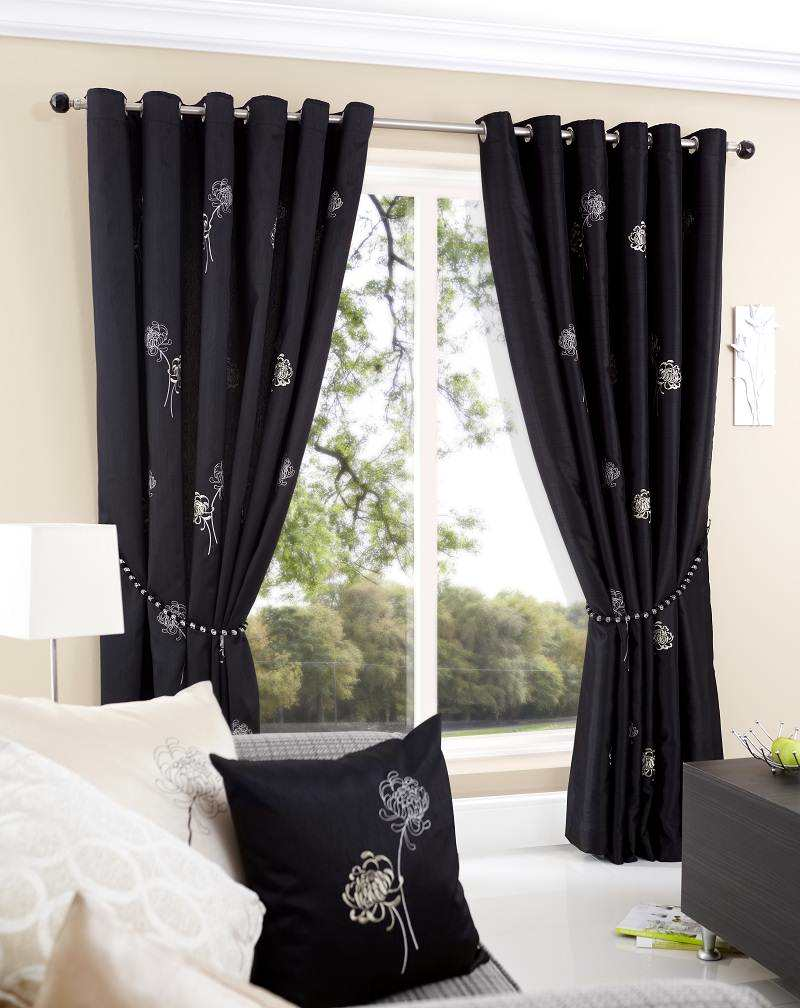 amazing black curtains for small room photos 06