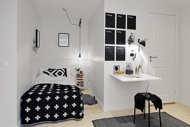 black and white bedroom on small spaces photos 05