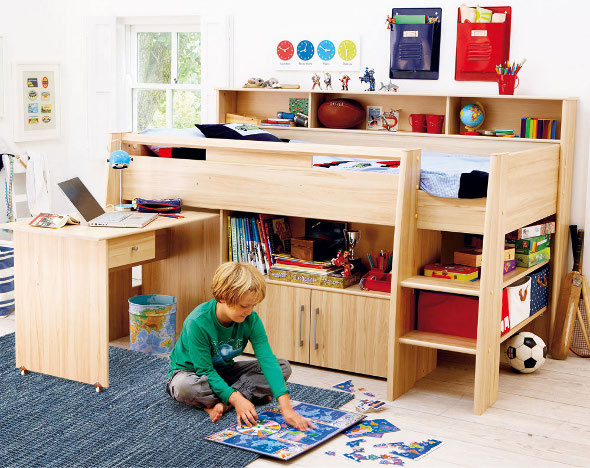 cabin bed small bedroom for kids 04