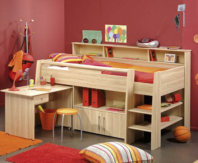 cabin bed small room for teenagers 05