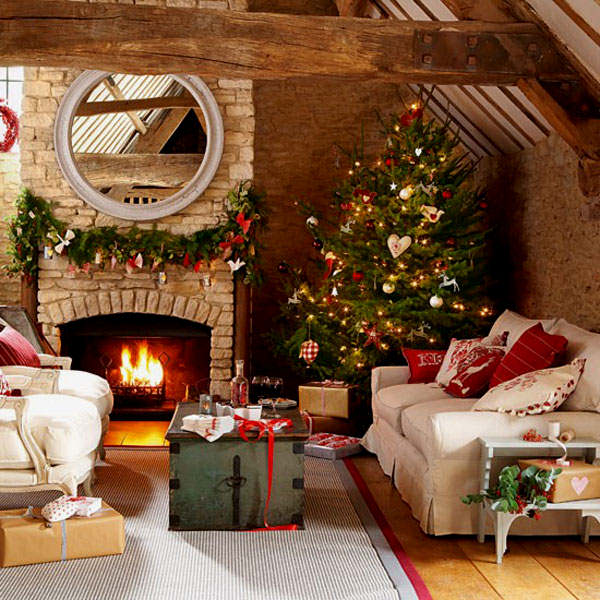 christmas decoration for small room ideas photo 06