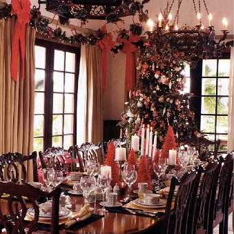 christmas home decorating ideas dining room images 03