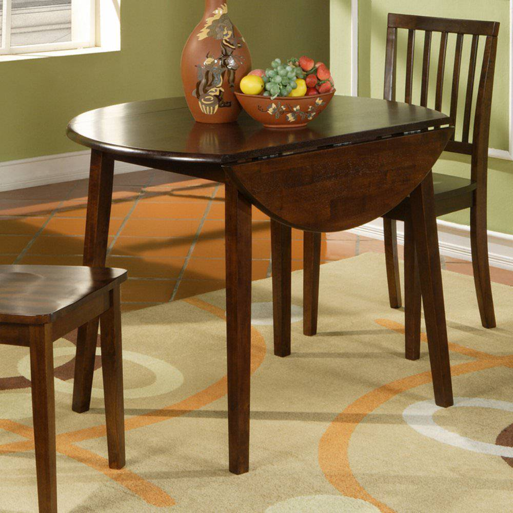 Drop leaf dining table for small spaces 09 for Dining room tables for small spaces