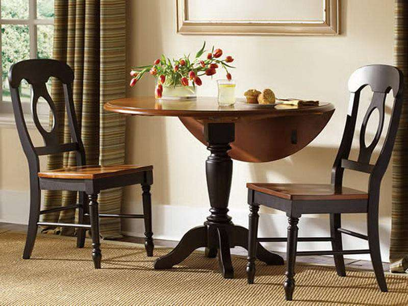 Small dining room tables for small spaces vintage small wood dining tables 10 small room - Table ideas for small spaces set ...