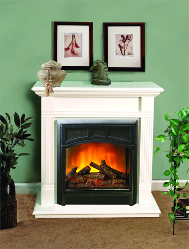 very small corner electric fireplace for home decor
