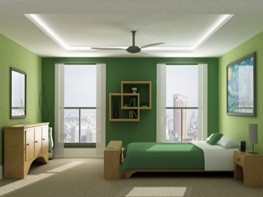 Images of green bedroom paint color ideas for small room for Bedroom paint ideas green