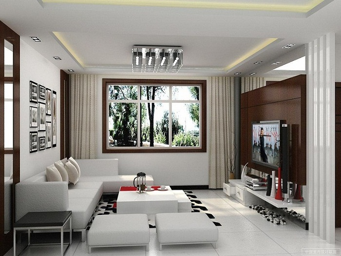 modern ideas for decorating a small living room pic 02