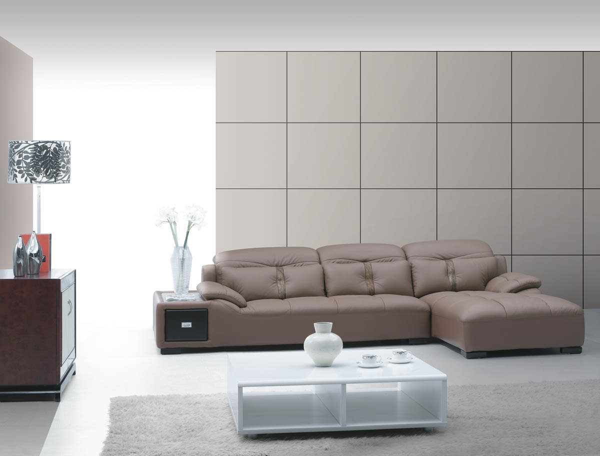 Modern Leather Sectional Small Room Furniture Modern