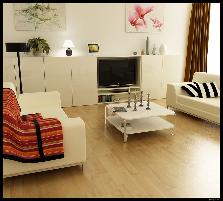 Modern small living room furniture minimalist design Tiny room makeover