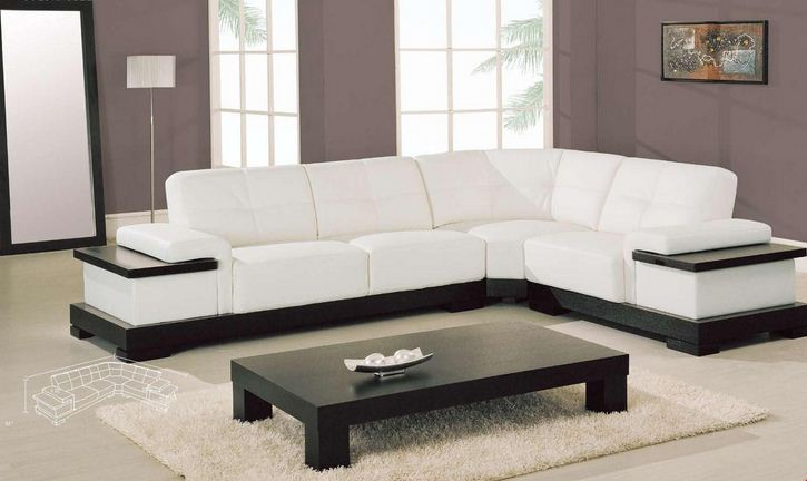 modern white leather sectional sofa for small space 07