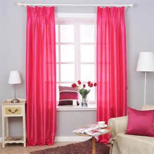 red curtain for simple small room pic 07